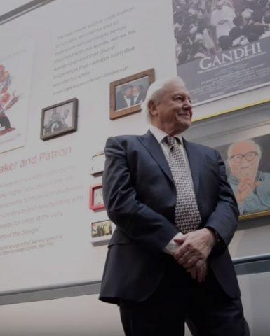 David Attenborough in the foyer