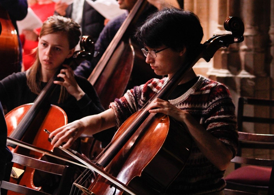 Here is Jenny playing in an orchestra, photo credit Yuchen Zhu