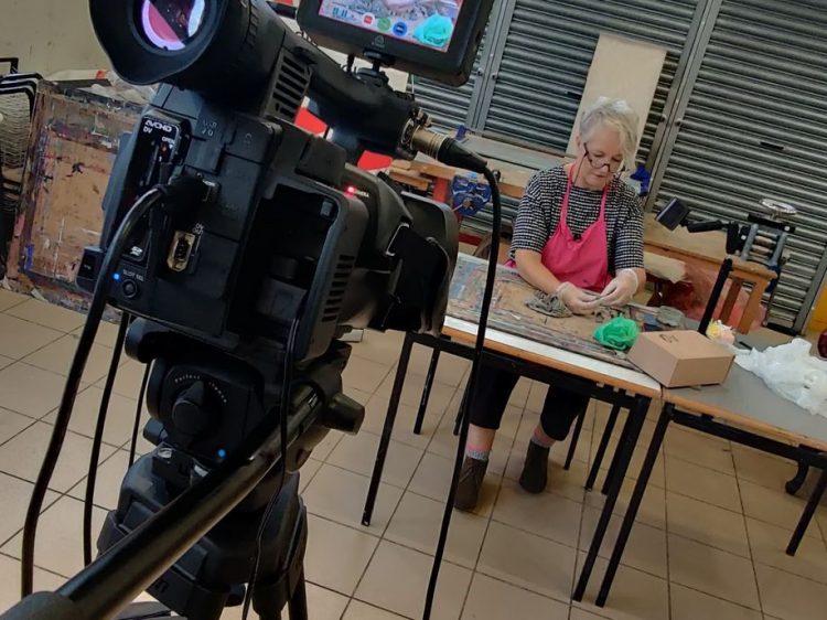 Filming in Studio attenborough
