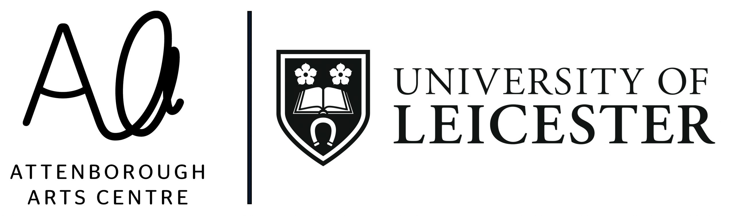 Attenborough Arts centre and University of Leicester logo