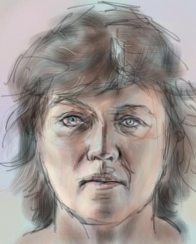 a digital portrait of michaela butter