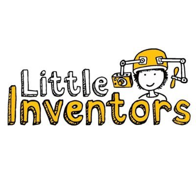 An illustrated Little Inventors logo